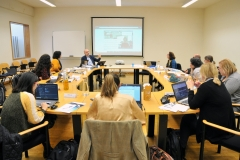 "The Kick-off Meeting Erasmus+ Project "" DeSTRESS – Developing Competencies for Stress Resilience @ SMEs took place at ISCTE-IUL on the 20th and 21st of november 2019. Fotografia de Hugo Alexandre Cruz."